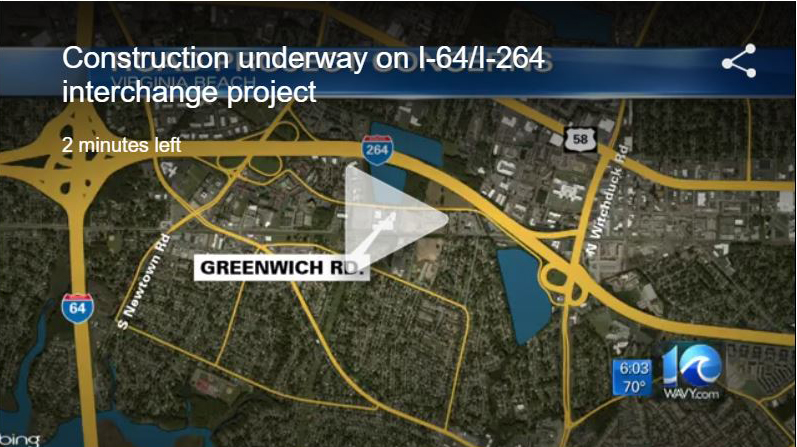 wavy 10 story on I-264 project